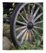 Antique Wagon Wheel  Fleece Blanket