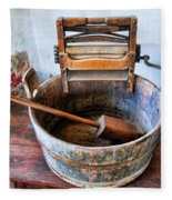 Antique Washing Machine Fleece Blanket
