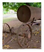 Antique Water Tank - No 1 Fleece Blanket