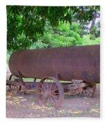 Antique Water Tank - No 2 Fleece Blanket