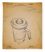 Antique Westinghouse Coffee Maker Patent 1964 Fleece Blanket