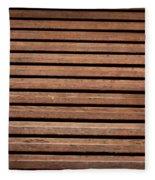 Antique Wood Texture Fleece Blanket