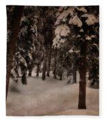 Antique Woodscape Fleece Blanket