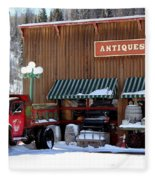 Antiques In The Mountains Fleece Blanket