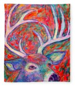 Antler Swirl Fleece Blanket