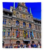 Antwerp's City Hall Fleece Blanket