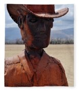 Anza Borrego Cowboy Fleece Blanket