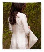 Ao Dai 02 Fleece Blanket