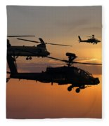 Apache Escort  Fleece Blanket