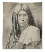 Apache Girl 1906 Fleece Blanket