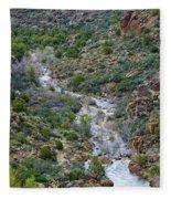 Apache Trail River View Fleece Blanket