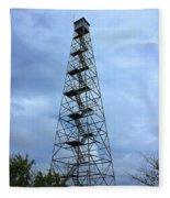 Apalachee Fire Tower In Morgan County Fleece Blanket