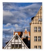 Apartment Houses In Gdansk Fleece Blanket
