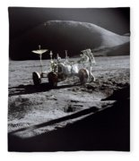 Apollo 15 Lunar Rover Fleece Blanket