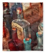 Apothecary - A Series Of Bottles Fleece Blanket