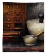 Apothecary - Pestle And Drawers Fleece Blanket