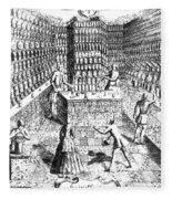 Apothecary Shop, 1688 Fleece Blanket
