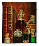 Apothecary - Vintage Jars And Potions Fleece Blanket