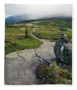 Appalachian Trail Mountain Path Saddleback Maine Fleece Blanket