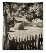 Appalachian Barnyard Fleece Blanket