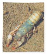 Appalachian Blue Crayfish Fleece Blanket
