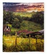 Appalachian Mountain Farm Fleece Blanket