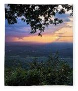 Appalachian Mountains Fleece Blanket