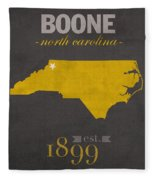 Appalachian State University Mountaineers Boone Nc College Town State Map Poster Series No 010 Fleece Blanket