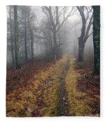 Appalachian Trail Fog Fleece Blanket