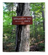 Appalachian Trail Sign North Fleece Blanket