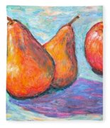 Apple And Pear Twirl Fleece Blanket