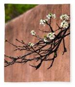 Apple Blossom Branch Fleece Blanket