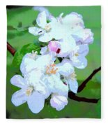 Apple Blossoms In The Spring - Painting Like Fleece Blanket