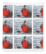 Apple Collage Fleece Blanket