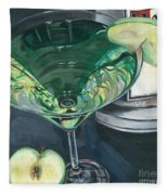 Apple Martini Fleece Blanket