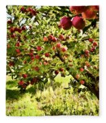Apple Orchard Fleece Blanket
