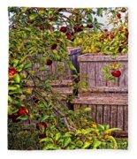 Apple Orchard Harvest Fleece Blanket
