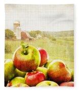 Apple Picking Time Fleece Blanket
