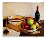 Apple Pie Impressions Fleece Blanket