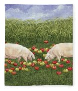 Apple Sows Fleece Blanket