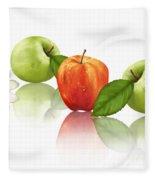 Apple Story Fleece Blanket