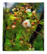 Apple Tree In April Fleece Blanket