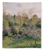 Apple Trees In Blossom Fleece Blanket