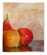 Apples And A Pear Fleece Blanket