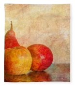 Apples And A Pear II Fleece Blanket