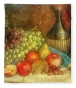 Apples And Grapes Fleece Blanket