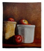 Apples And Jars Fleece Blanket
