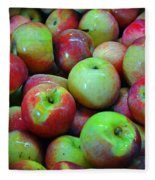 Apples Apples And More Apples Fleece Blanket