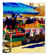 Apples Cortlands Lobos Honey Crisps Mcintosh Atwater Market Apple Fruit Stall Foodart Carole Spandau Fleece Blanket