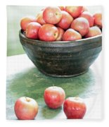 Apples On The Table  Fleece Blanket